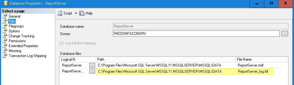 SCCM Reporting Database Log File Size - Ozge Ozkaya